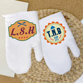 Personalized Monogram Oven Mitt