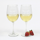 Personalized Wedding Party White Wine Glass