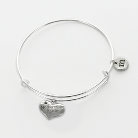 Personalized Mother Of The Bride Charm Bangle