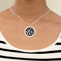 Personalized Mother Pearl Monogram Necklace