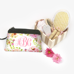 Personalized Relaxation Cosmetic Bag Gift Basket