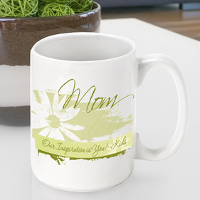 Personalized Delicate Daisy Mugs
