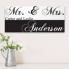 Personalized Couples Canvas Print