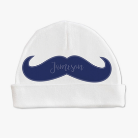 Personalized Mustache Baby Cap