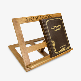 Personalized Name Bamboo Book Stand