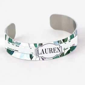 Personalized Name Cuff Bracelet