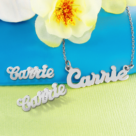 Personalized Name Necklace and Earrings
