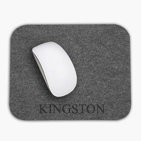 Personalized Name Rectangular Felt Mouse Pad