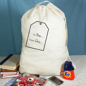 Personalized Name Tag Laundry Bag