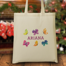 "Personalized ""Butterfly"" Tote Bag"