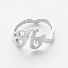 Personalized One Initial Ring