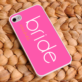 Personalized Perfectly Pink Bride iPhone Case
