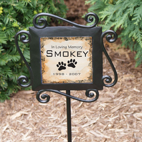 Personalized Pet Sympathy Garden Stake