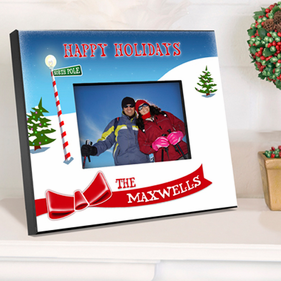 Personalized Picture Frame - North Pole Christmas
