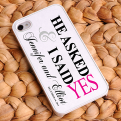 Personalized Pink He Asked iPhone Case