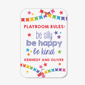 Personalized Playroom Rules Sign