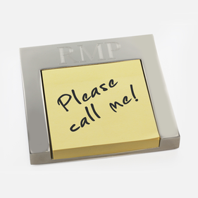 Personalized Post It Note Holder