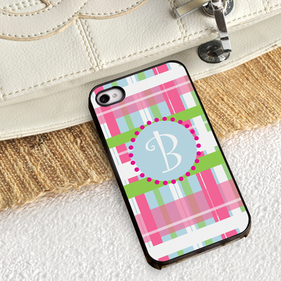 Personalized Plaid iPhone Case