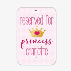 Personalized Princess Room Sign