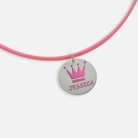 Personalized with Name Princess Necklace for Kids