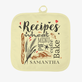 Personalized Recipes Pot Holder