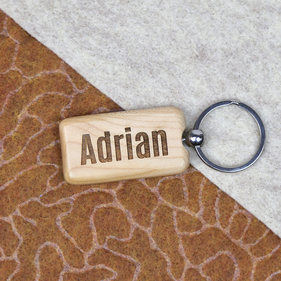 Personalized Rectangle Keychain