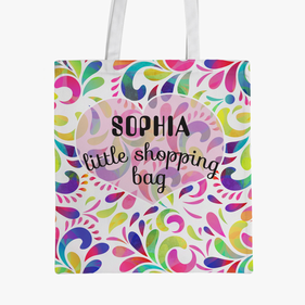 Personalized Little Shopping Tote Bag