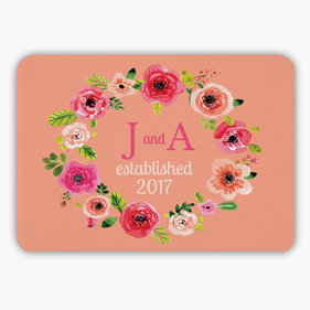 Personalized Rose Indoor Floor Mat