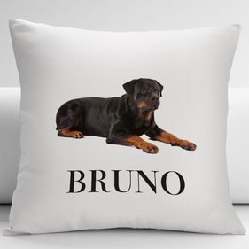 Personalized Rottweiler Pets Decorative Cushion Cover