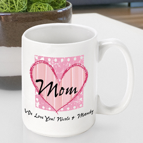Personalized Heart Mug for Mom