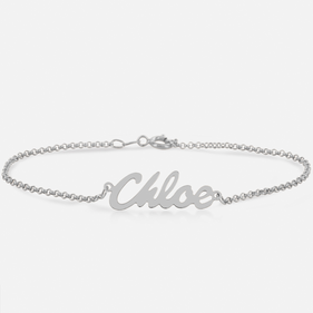 Personalized Silver Name Bracelet