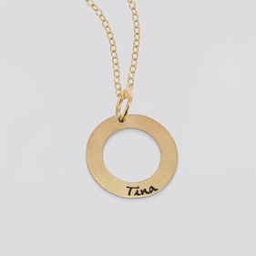 Personalized Single Circle Necklace