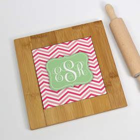 Personalized Monogram Bamboo Trivet