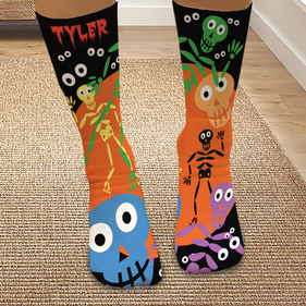 Personalized Skeleton Halloween Tube Socks