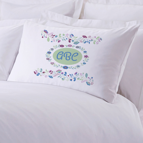 Personalized Sleeping Floral Pillow Case