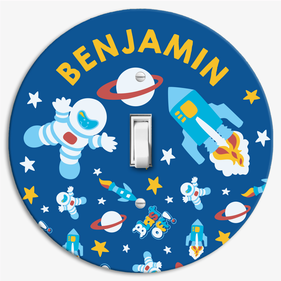 Personalized Space Astronaut Light Switch Cover