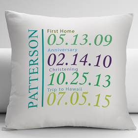 Personalized Special Dates Decorative Cushion Cover