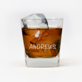 Personalized Spider Whiskey Glass