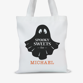 Personalized Spooky Sweets Halloween Tote Bag