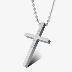Personalized Stainless Steel Cross Necklace