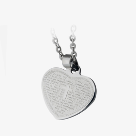 Personalized Stainless Steel Heart Necklace