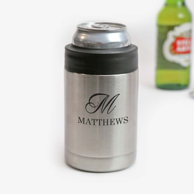 Personalized Stainless Steel Vacuum Insulated Beverage Holder