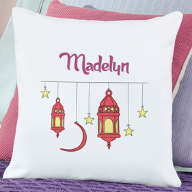 Personalized Stars and Lanterns Cushion Cover