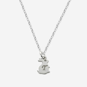 Personalized Sterling Silver Girl's Initial Easter Bunny Necklace