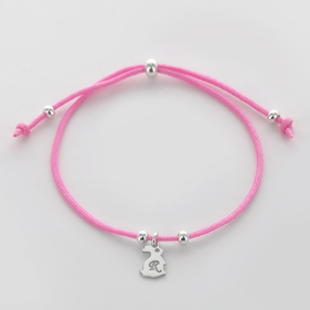 Personalized Sterling Silver Initial Easter Bunny Bracelet