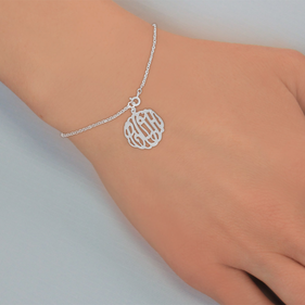 Personalized Sterling Silver Monogram Bracelet