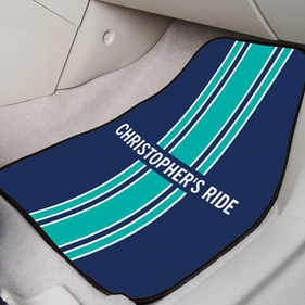 Personalized Stripe Front Car Mat