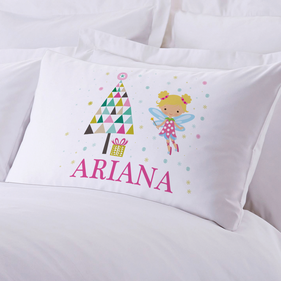 Personalized Sugar Plum Fairy Pillow Case