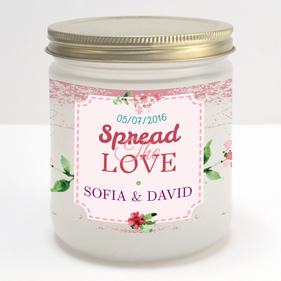 Spread The Love Custom Couple Jam Jar