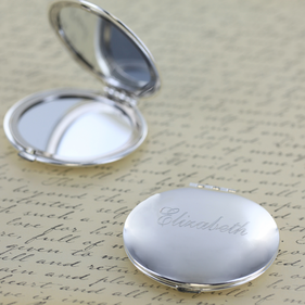 Personalized Super Size Round Compact Mirror